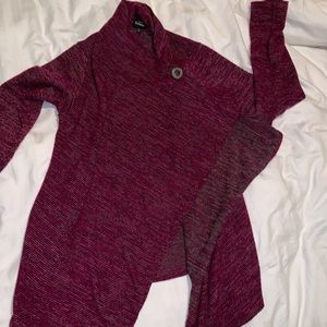 Bobeau Open Front Sweater